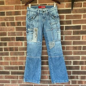 Guess Patched embellished Jeans
